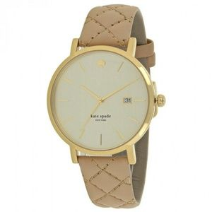 Kate Spade Metro Grand Gold Dial Quilter Leather